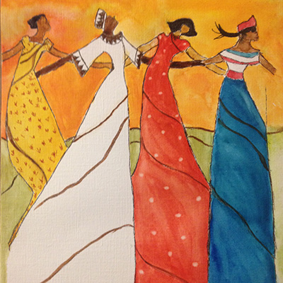 In the Spirit of Healing - Sit, Sip & Create Women Dancing